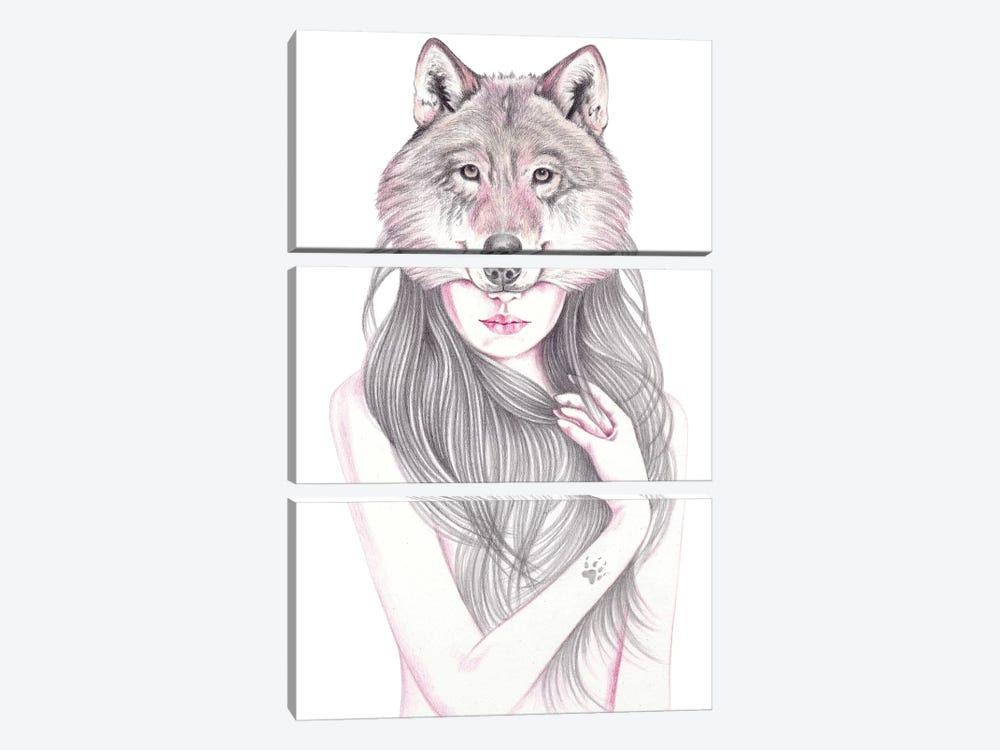 Wolfheart by Andrea Hrnjak 3-piece Canvas Wall Art