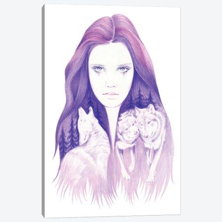 Wolf Spirit Canvas Print #AHR51} by Andrea Hrnjak Art Print