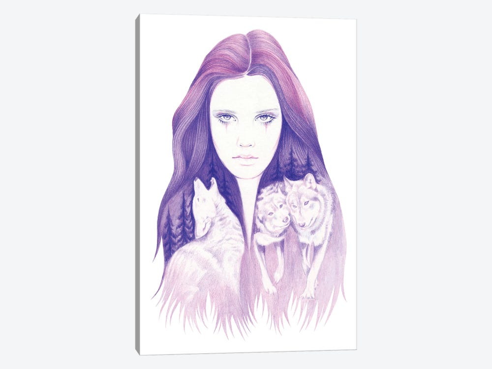 Wolf Spirit by Andrea Hrnjak 1-piece Canvas Print