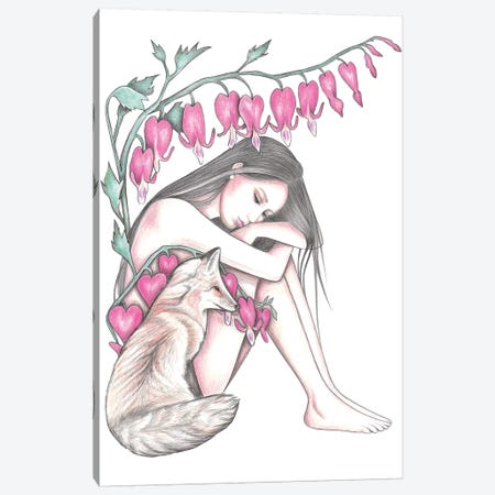 Bleeding Hearts Canvas Print #AHR52} by Andrea Hrnjak Canvas Art Print
