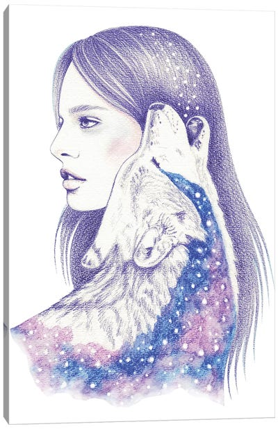 Cosmic Love II Canvas Art Print