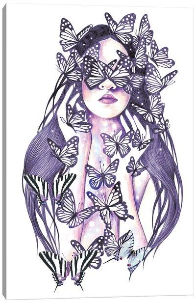 Lady Butterfly Canvas Art Print
