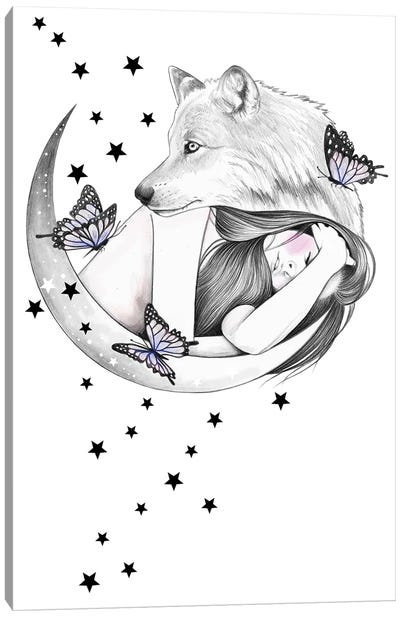 Over The Moon Canvas Art Print