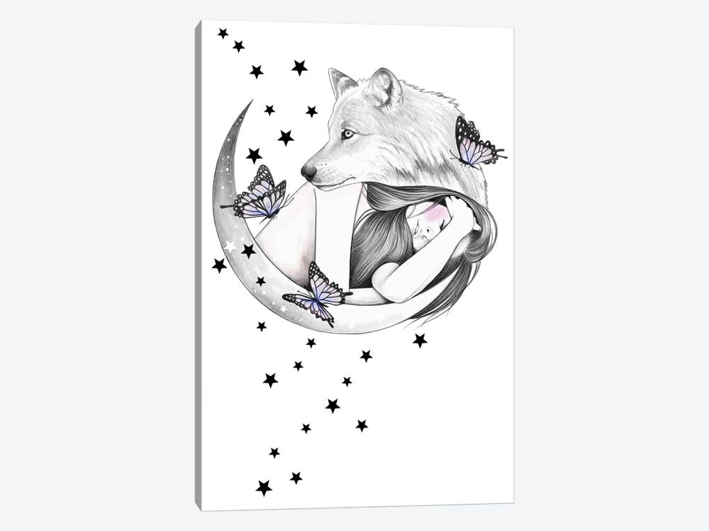 Over The Moon by Andrea Hrnjak 1-piece Canvas Artwork