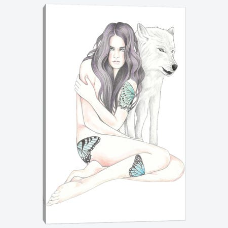 She Wolf II Canvas Print #AHR59} by Andrea Hrnjak Canvas Art Print