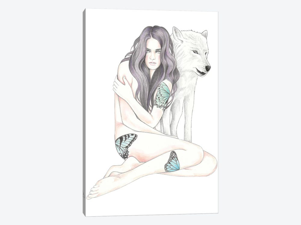 She Wolf II by Andrea Hrnjak 1-piece Canvas Art Print