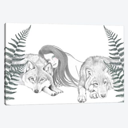 Wolf Pack II Canvas Print #AHR60} by Andrea Hrnjak Canvas Wall Art