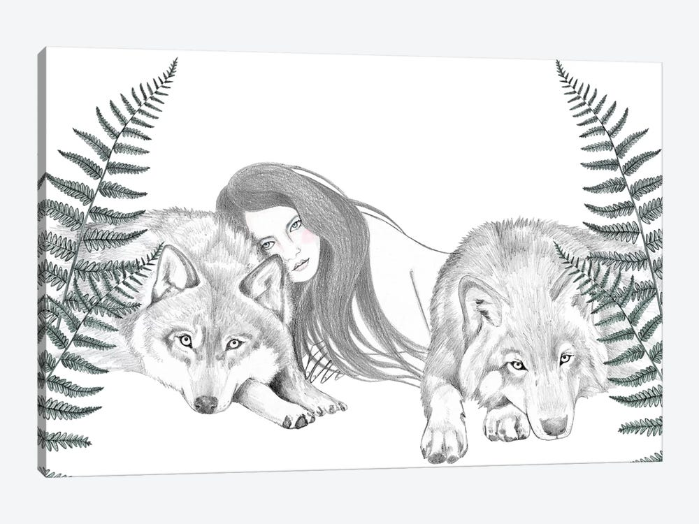 Wolf Pack II by Andrea Hrnjak 1-piece Canvas Art Print