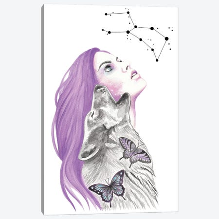 Written In The Stars Canvas Print #AHR62} by Andrea Hrnjak Canvas Artwork