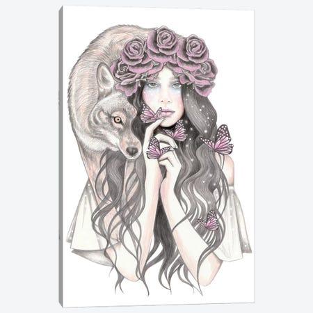 Shadow Wolf Canvas Print #AHR66} by Andrea Hrnjak Art Print