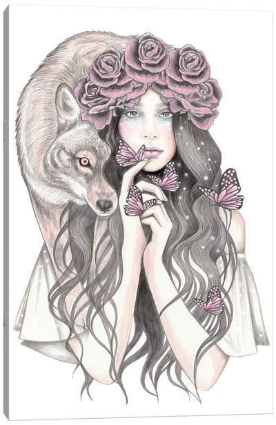 Shadow Wolf Canvas Art Print