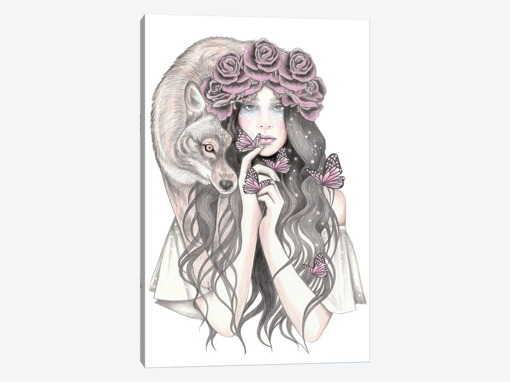 Shadow Wolf by Andrea Hrnjak 1-piece Canvas Art Print
