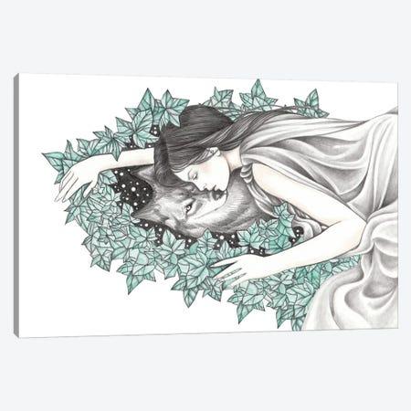 Spirit Wolf Canvas Print #AHR68} by Andrea Hrnjak Canvas Art