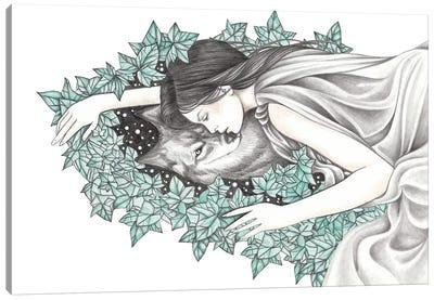 Spirit Wolf Canvas Art Print