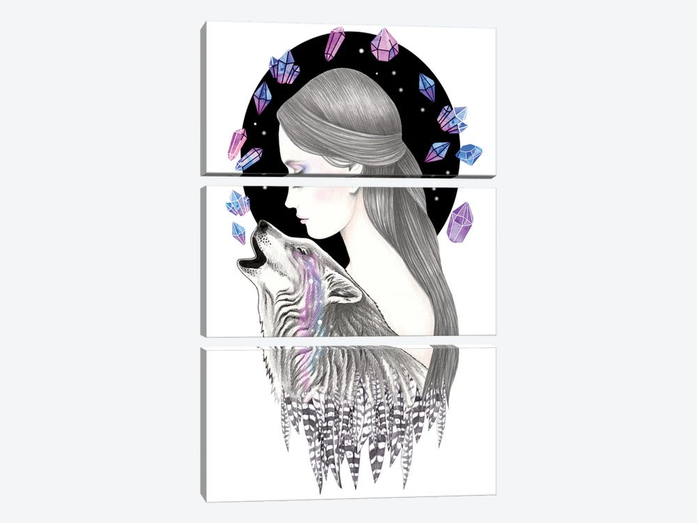 Crystal by Andrea Hrnjak 3-piece Canvas Artwork