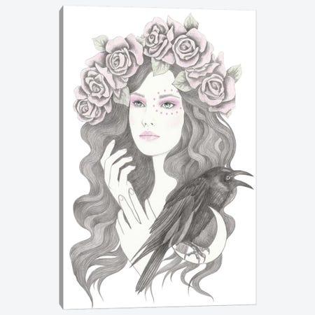 Blackbird Canvas Print #AHR70} by Andrea Hrnjak Canvas Art Print