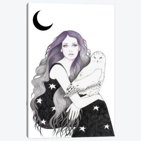 White Owl Canvas Print #AHR72} by Andrea Hrnjak Art Print