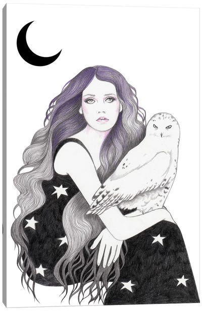 White Owl Canvas Art Print