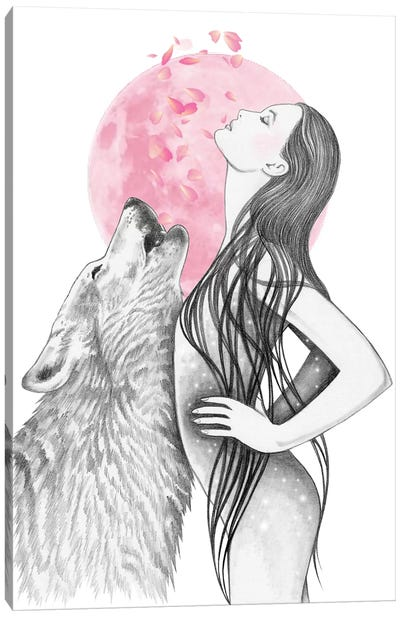 Pink Moon Canvas Art Print