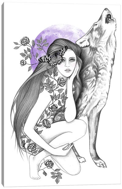 Night Of The Wolf Canvas Art Print