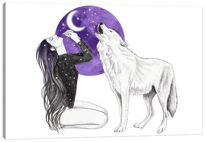 Take Me To The Moon Canvas Art Print