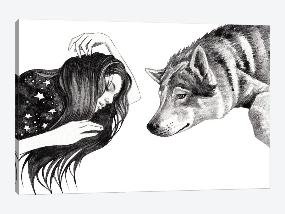 Dreamers by Andrea Hrnjak 1-piece Canvas Print