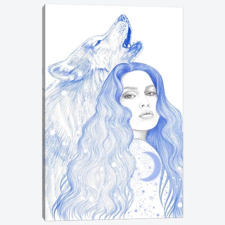 Blue Star Canvas Print #AHR82} by Andrea Hrnjak Canvas Wall Art