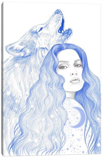 Blue Star Canvas Art Print