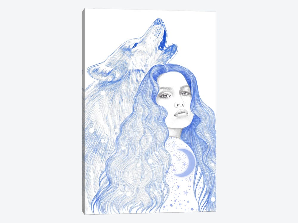 Blue Star by Andrea Hrnjak 1-piece Canvas Art Print