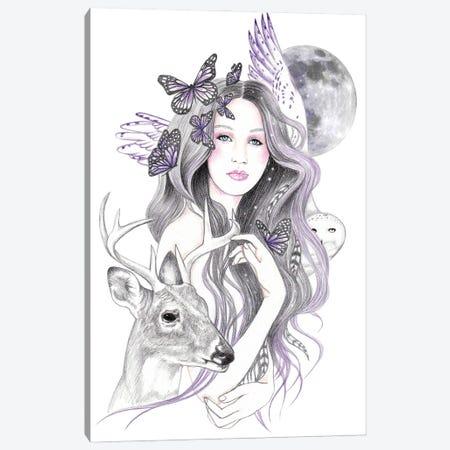 Soul Moon Canvas Print #AHR84} by Andrea Hrnjak Art Print