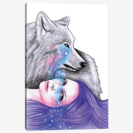 Cosmic Love Canvas Print #AHR8} by Andrea Hrnjak Art Print
