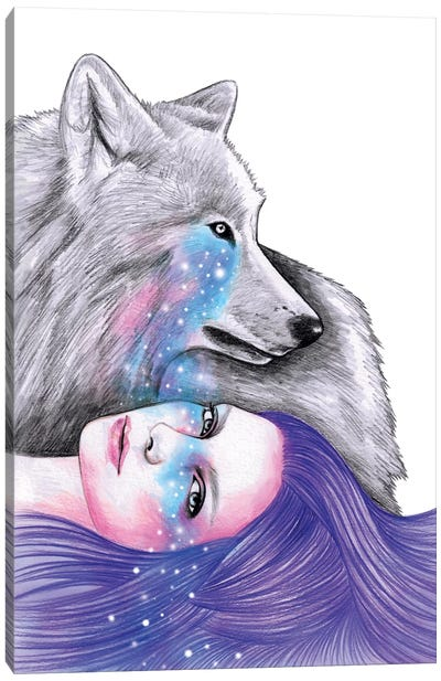 Cosmic Love Canvas Art Print