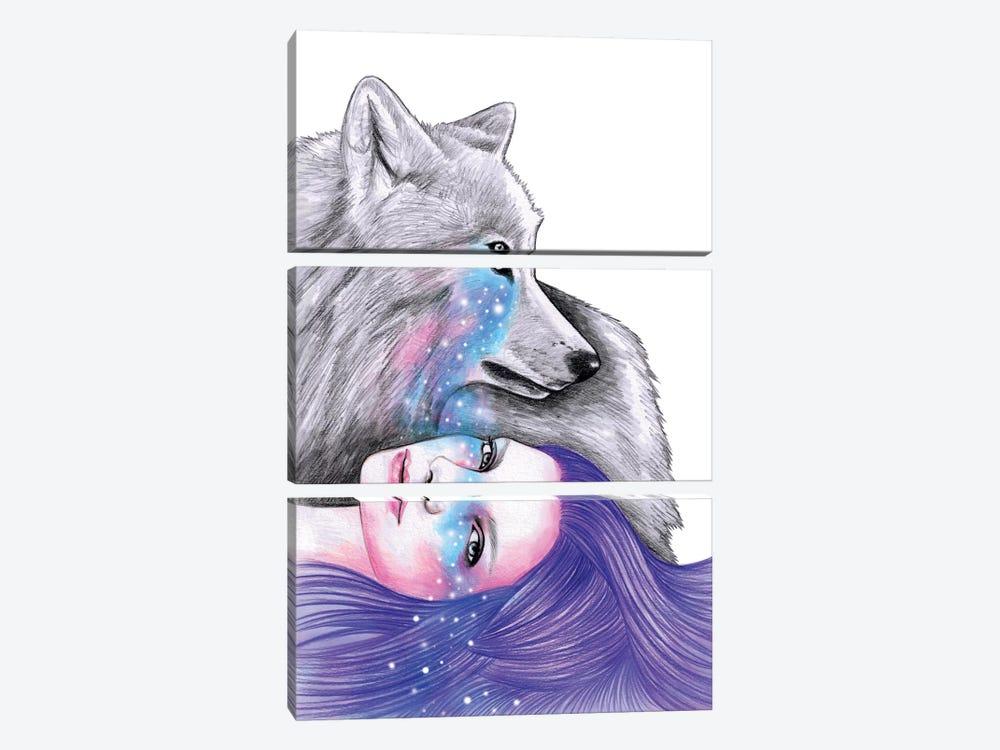Cosmic Love by Andrea Hrnjak 3-piece Canvas Art