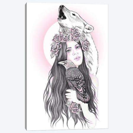 Crow Moon Canvas Print #AHR99} by Andrea Hrnjak Canvas Print
