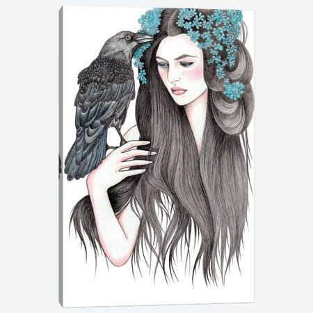 Crow Canvas Print #AHR9} by Andrea Hrnjak Canvas Art Print