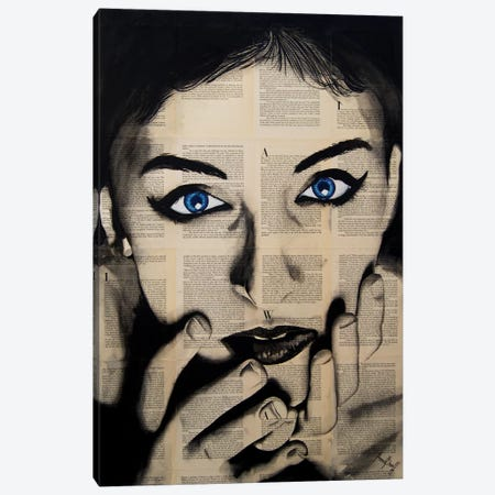 Blue Eyes Girl Canvas Print #AHS10} by Ahmad Shariff Canvas Art