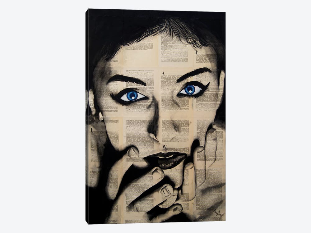 Blue Eyes Girl by Ahmad Shariff 1-piece Canvas Print