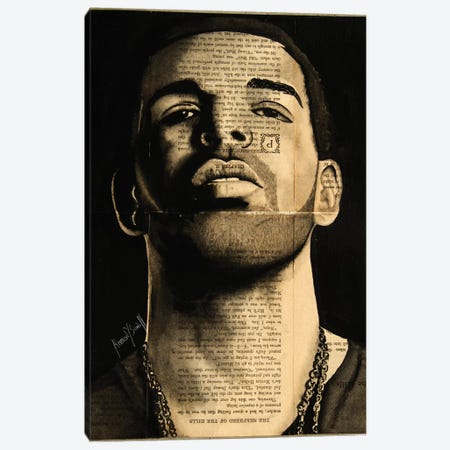 Drake Canvas Print #AHS14} by Ahmad Shariff Canvas Print
