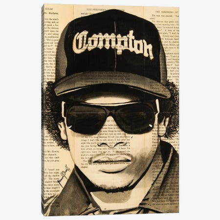 Eazy-E Canvas Print #AHS16} by Ahmad Shariff Canvas Print