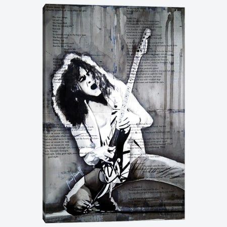 Eddie Van Halen Canvas Print #AHS17} by Ahmad Shariff Canvas Art Print