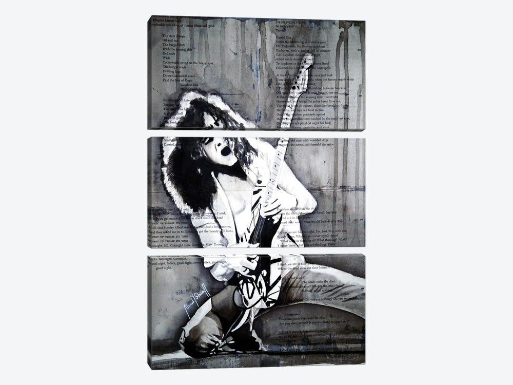 Eddie Van Halen by Ahmad Shariff 3-piece Canvas Wall Art
