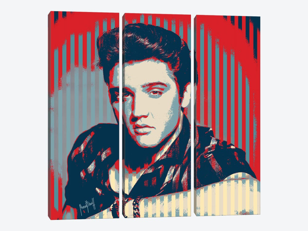 Elvis by Ahmad Shariff 3-piece Art Print