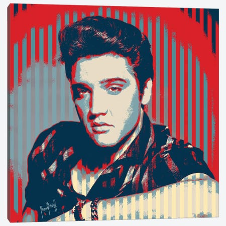 Elvis Canvas Print #AHS18} by Ahmad Shariff Canvas Wall Art