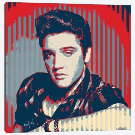 Elvis Canvas Print #AHS18} by Ahmad Shariff Canvas Wall Art