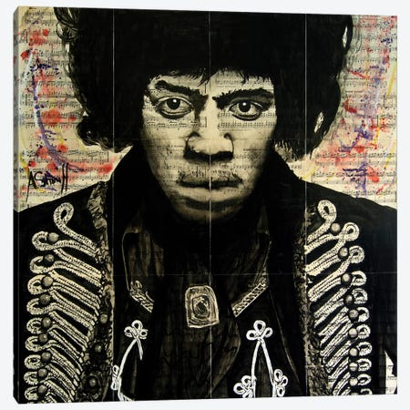 Hendrix II Canvas Print #AHS20} by Ahmad Shariff Canvas Art Print