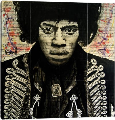 Hendrix II Canvas Art Print