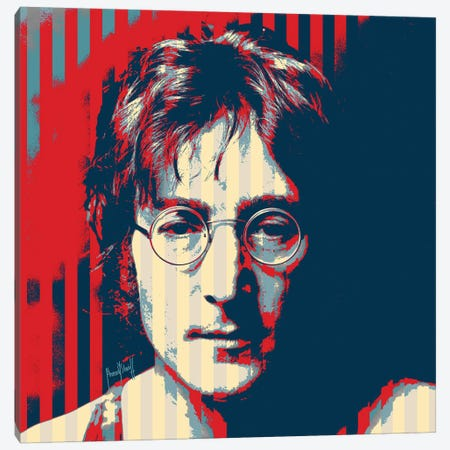 John Lennon Canvas Print #AHS23} by Ahmad Shariff Art Print