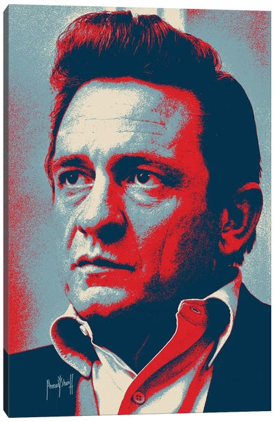 Johnnny Cash Canvas Art Print