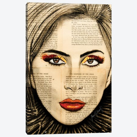Lady Gaga Canvas Print #AHS25} by Ahmad Shariff Canvas Art
