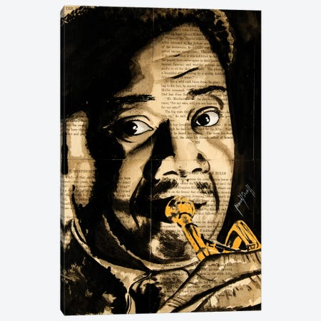 Louis Armstrong Canvas Print #AHS26} by Ahmad Shariff Canvas Wall Art